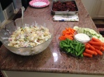 Veggies and potato salad